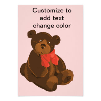 Cute cartoon bear card