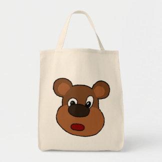 Cute Cartoon Bear Face Bag