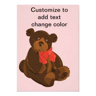 "Cute cartoon bear 5"" x 7"" invitation card"