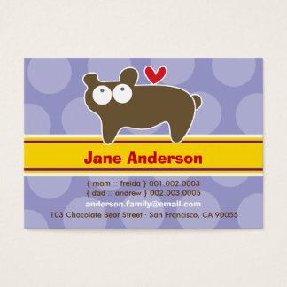 Cute Cartoon Bear Kid Photo Profile Calling Card