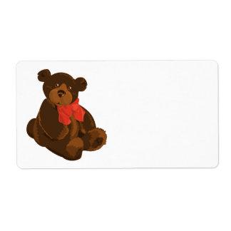 Cute cartoon bear label