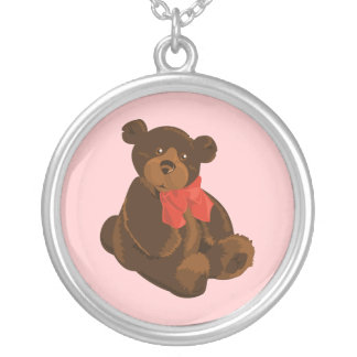 Cute cartoon bear necklace