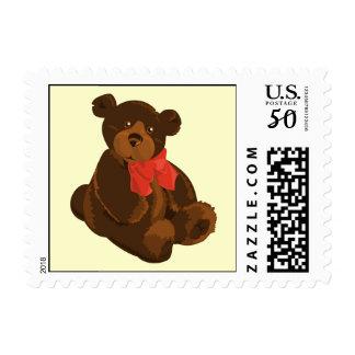 Cute cartoon bear postage