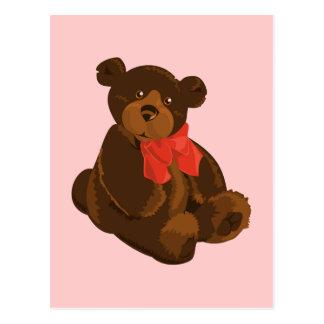 Cute cartoon bear postcard