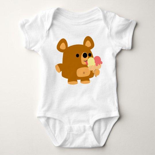 Cute Cartoon Bear with Balls :) Baby apparel Baby Bodysuit