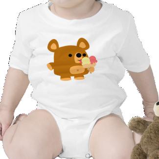 Cute Cartoon Bear with Balls :) Baby apparel Creeper