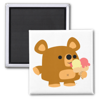 Cute Cartoon Bear with Balls :) magnet