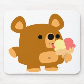 Cute Cartoon Bear with Balls :) mousepad