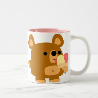 Cute Cartoon Bear with Balls :) mug