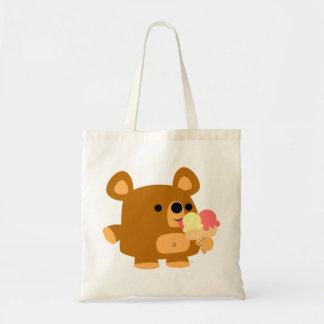 Cute Cartoon Bear with Ice Cream Bag