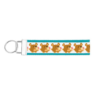 Cute Cartoon Bear with Ice Cream Bands Keychain