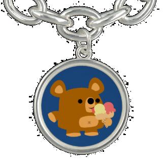 Cute Cartoon Bear with Ice Cream Charm Bracelet