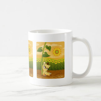 Cute Cartoon Bear with Sunflowers Coffee Mug