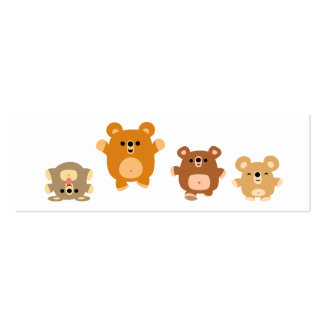 Cute cartoon Bears 3 Bookmark (profile card) Business Card