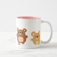 Cute cartoon Bears 3 mug