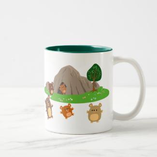 Cute Cartoon Bears in a Cave Mug