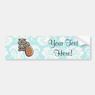 Cute Cartoon Beaver Bumper Sticker