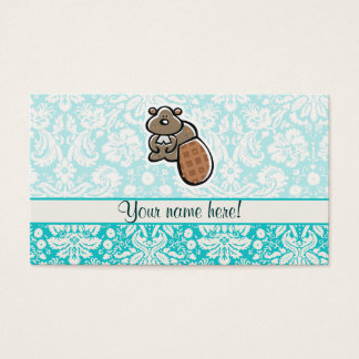 Cute Cartoon Beaver Business Card
