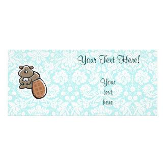 Cute Cartoon Beaver Custom Rack Cards
