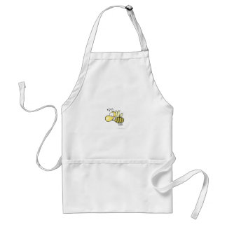 Cute Cartoon Bee Buzzing Around with Grin on Face Adult Apron