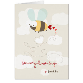 Cute Cartoon Bee Mine Love Valentine Photo Card