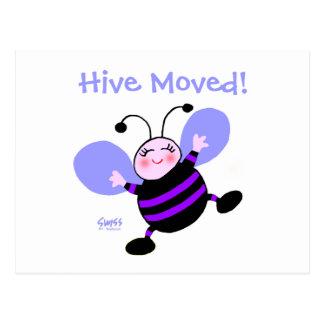 Cute Cartoon Bee Woman's Moving Announcement Postcard