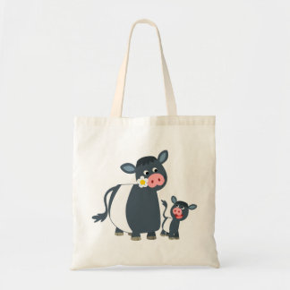 Cute Cartoon Belted Galloway Cow & Calf Bag