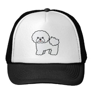 Cute Cartoon Bichon Frise Dog Trucker Hat