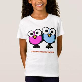 Cute Cartoon Birds With Big Googley Eyes T-Shirt