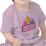 Cute Cartoon Birthday Animals Customizable Pink Tee Shirts
