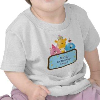 Cute Cartoon Birthday Animals Customizable zazzle_shirt