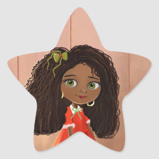 cute cartoon Black girl Mindy Sticker