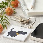 Cute Cartoon Black Labrador Acrylic Keychain