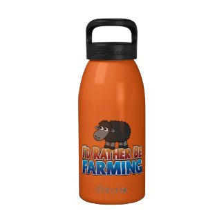 Cute Cartoon Black Sheep with Funny Saying Drinking Bottles