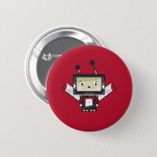 Cute Cartoon Blockimals Ladybird Button Badge