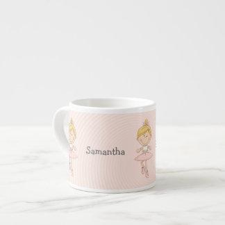 Cute Cartoon Blonde Ballerina 6 Oz Ceramic Espresso Cup