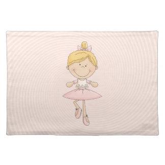 Cute Cartoon Blonde Ballerina Placemat