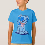 Cute Cartoon Blue Puppy Dog T-Shirt