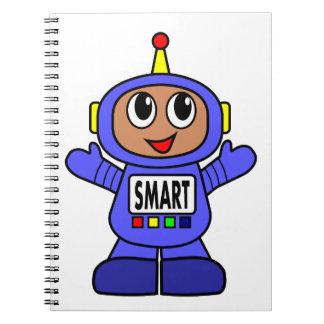 Cute Cartoon Blue Robot SMART Notebook