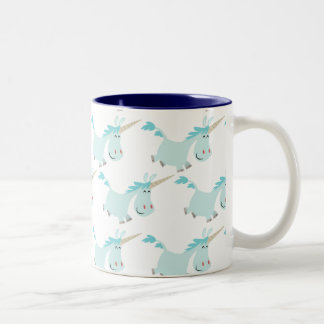 Cute Cartoon Blue Unicorns mug