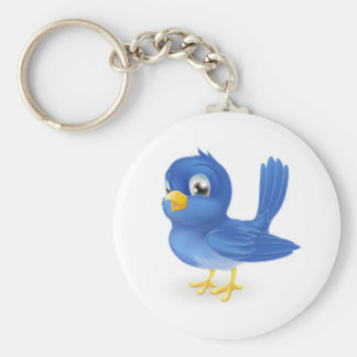 Cute cartoon bluebird keychain