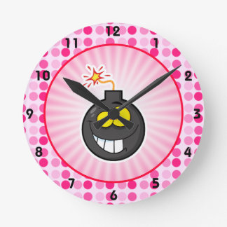 Cute Cartoon Bomb Round Wall Clock