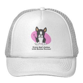 Cute Cartoon Boston Terrier Hat