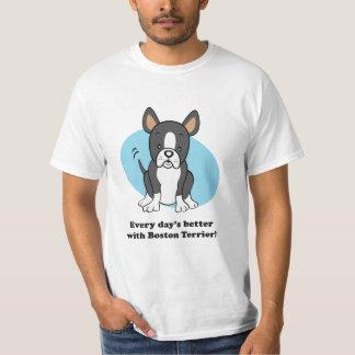 Cute Cartoon Boston Terrier Value-Shirt T-Shirt