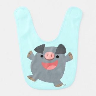Cute Cartoon Bouncy Pig Baby Bib