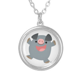 Cute Cartoon Bouncy Pig Necklace