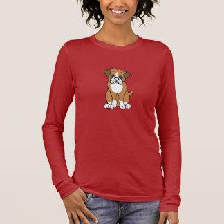 Cute Cartoon Boxer Long Sleeve Long Sleeve T-Shirt