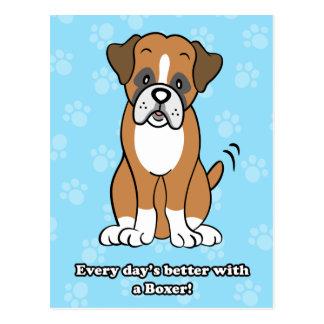 Cute Cartoon Boxer Postcard