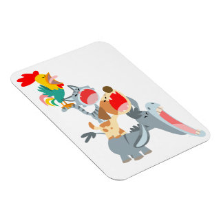 Cute Cartoon Bremen Town Musicians Flexible Magnet