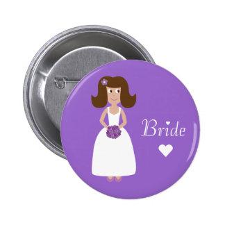 Cute Cartoon Bride Buttons